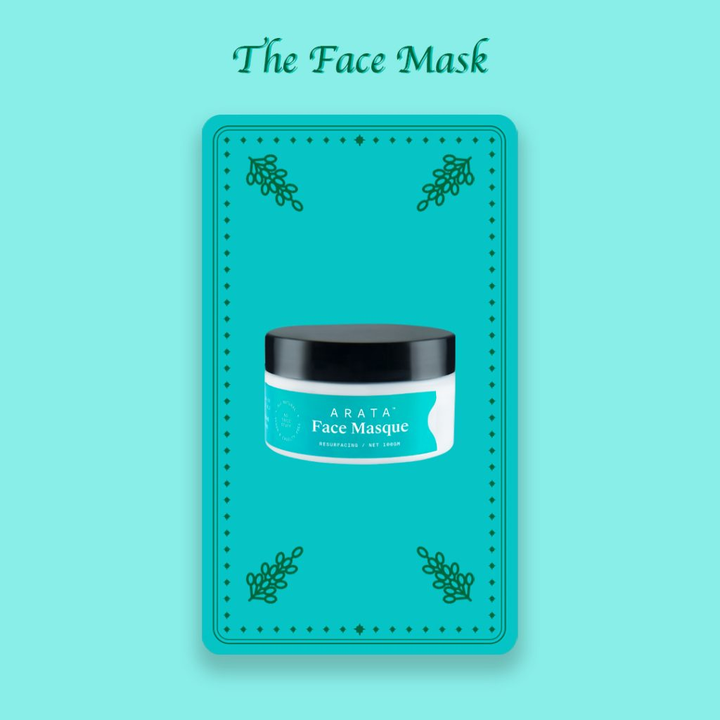 Natural face mask by Arata