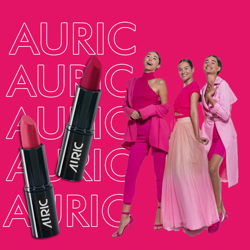 Pink family of lip shades by Auric Beauty