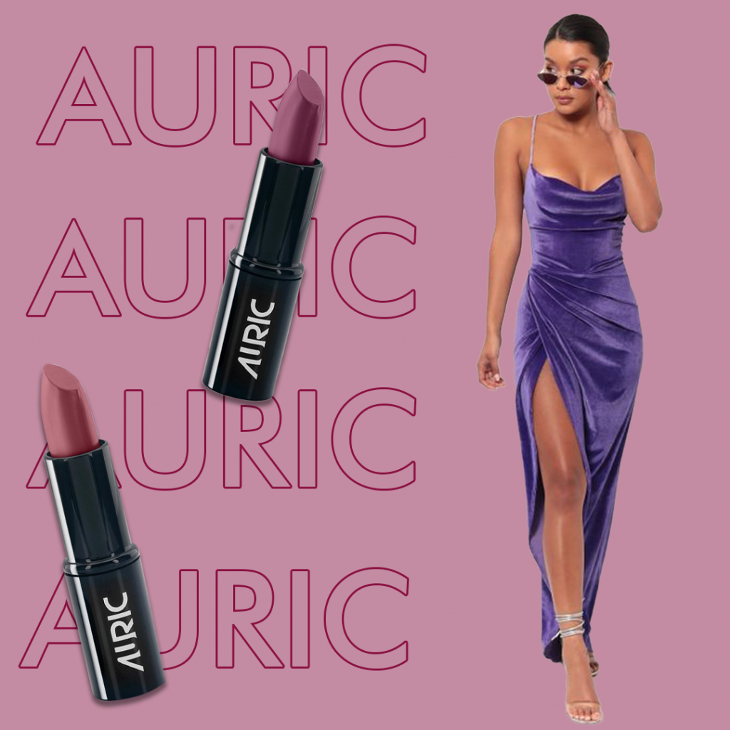Purple family of lip shades by Auric Beauty