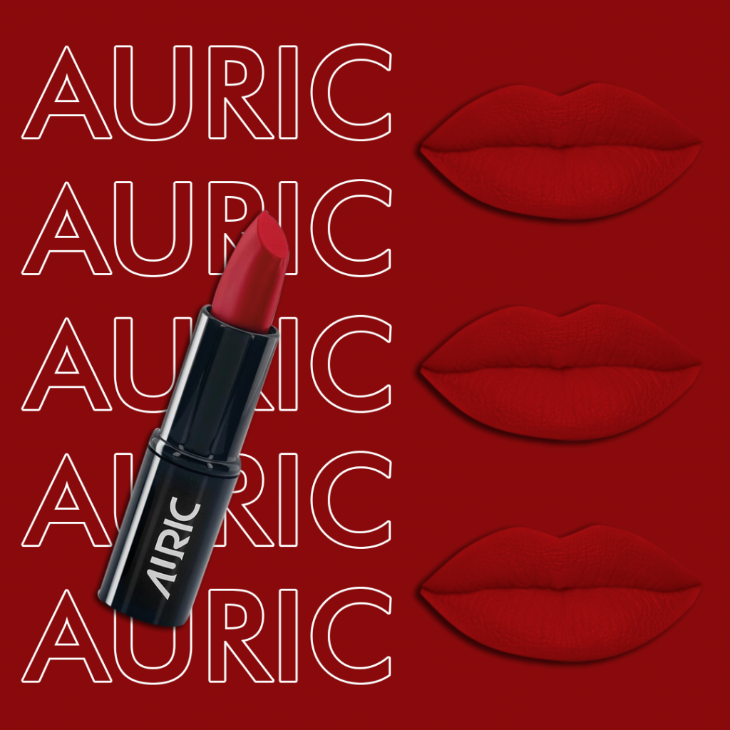 Red family of lip shades by Auric Beauty