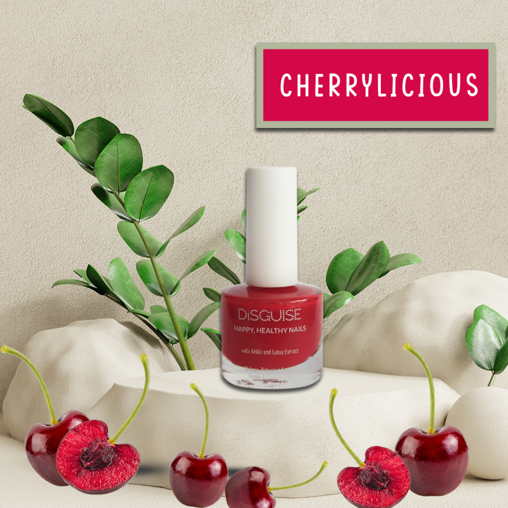 Cherrylicious nail paint by Disguise Cosmetics