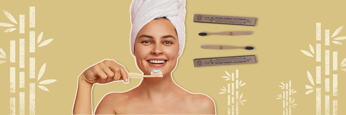 Buy The Sustainery bamboo toothbrush on Woovly