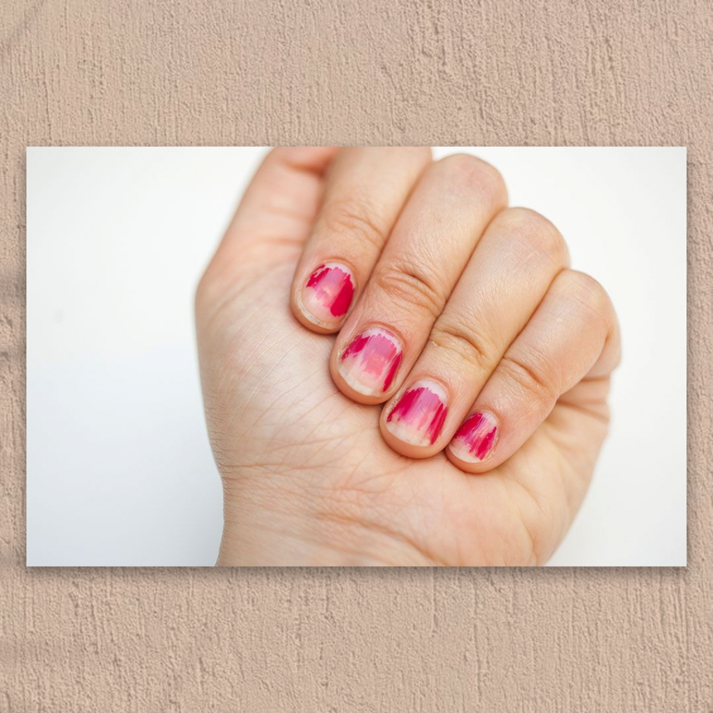 Chipped nail paint