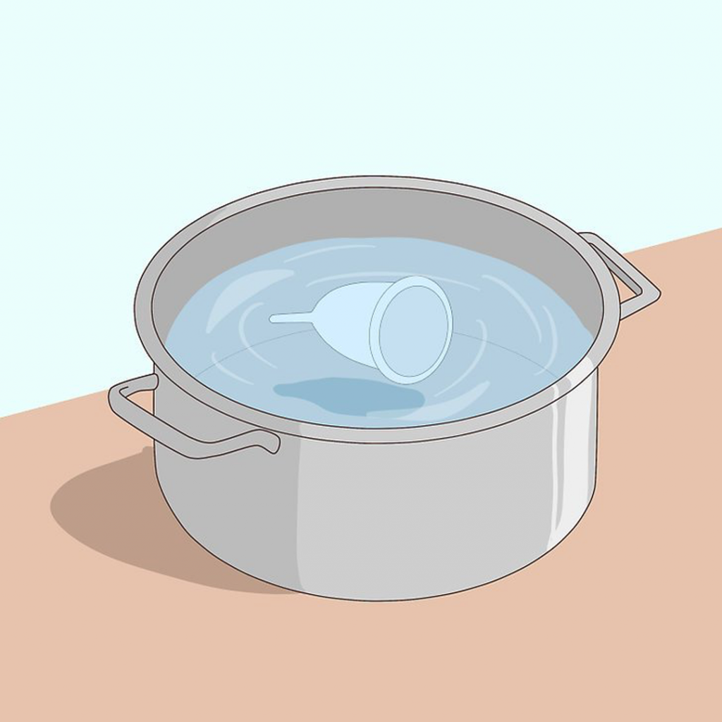 Sterilize your menstrual cup in boiling water