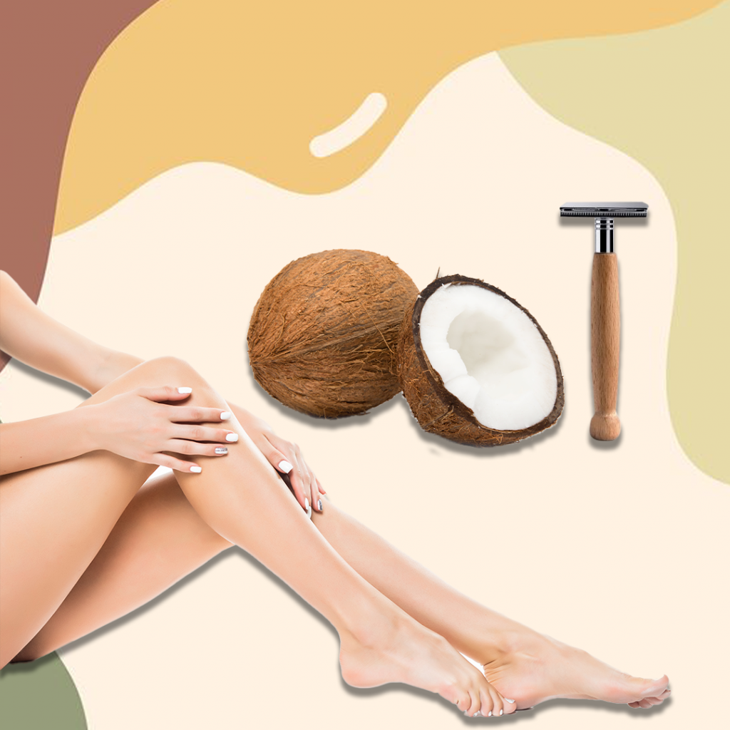 Coconut oil can be used for shaving legs