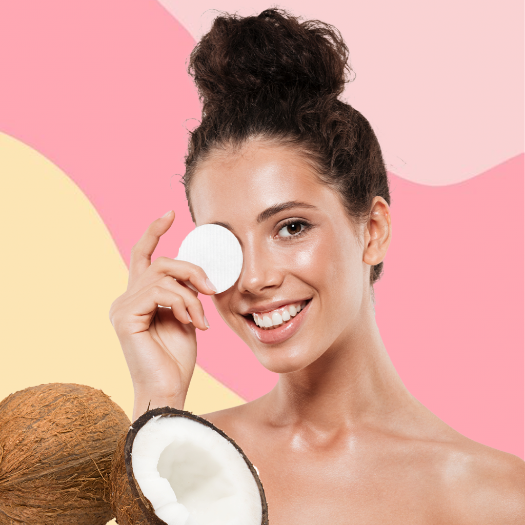 Use coconut oil for double cleansing your skin