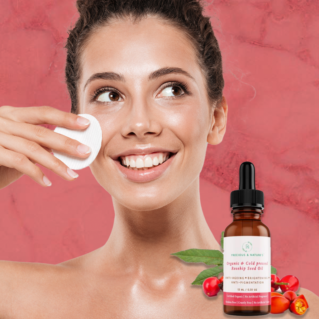 Rosehip oil can be used as a makeup remover