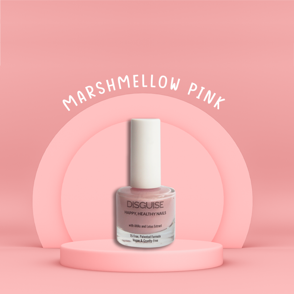marshmallow pink nail paint by Disguise Cosmetics