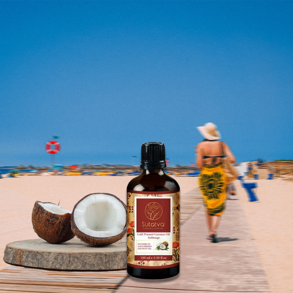 Coconut oil soothes sunburns