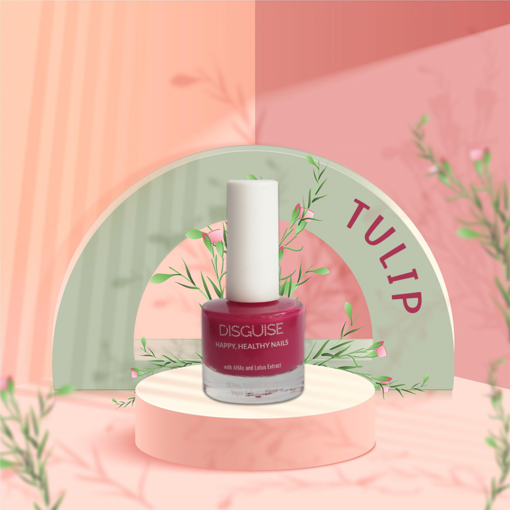 Tulip pink nail paint by Disguise Cosmetics